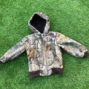 Kids RealTree Camo Carhartt Hunting Coat jacket 5